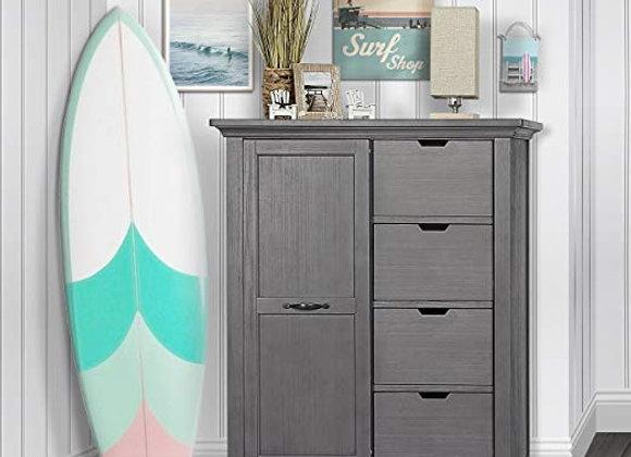 Belmar Tall Chest Dresser in Rustic Gray