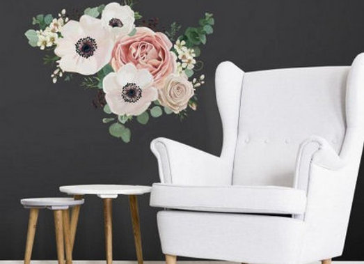 Roommates Fresh Floral Giant Peel and Stick Wall Decals