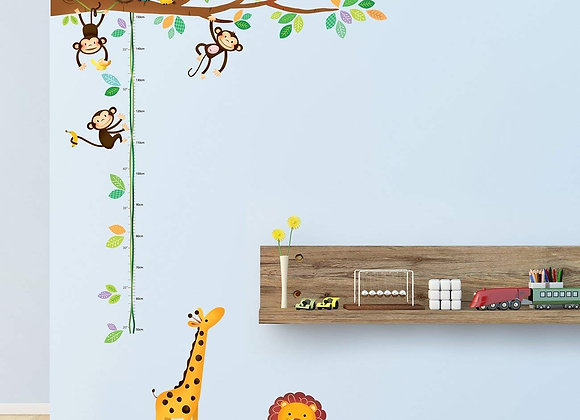 Little Monkeys Tree and Animal Peel and Stick Growth Chart