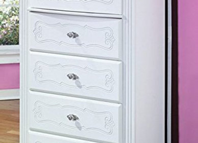 Exquisite 5 Drawer White Chest of Drawers French Style