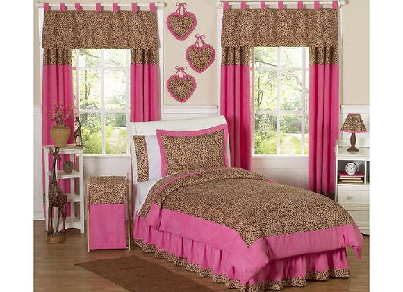 Sweet JoJo Designs Cheetah Pink and Brown Bedding Set