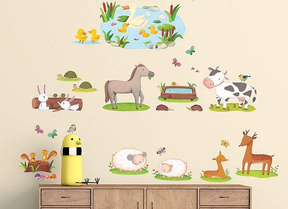 Field of Animals Farm Wall Decals