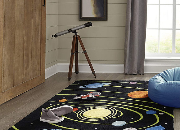 Hand Carved and Tufted Outer Space Planets Rug