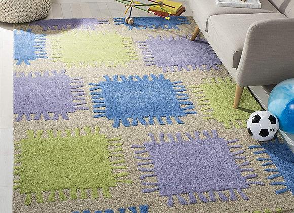 Safavieh Kids Beige Multi Wool Area Rug
