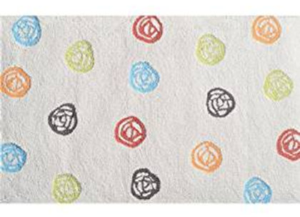 Plush Scribble Dot Kids Area Rug