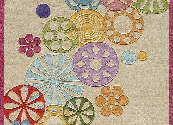 Momeni Kids Colorful Flowers Hand Carved and Tufted Kids Area Rug