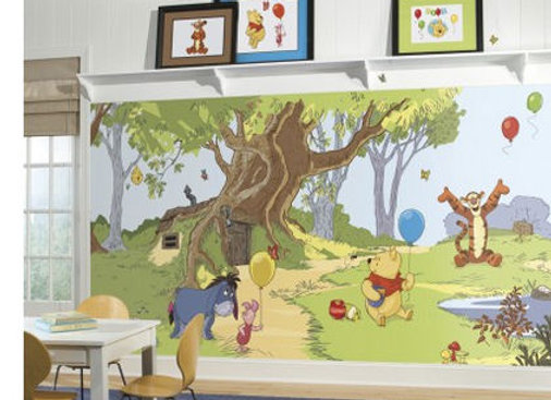 Pooh and Friends XL Surestrip Wall Mural 10.5' x 6'