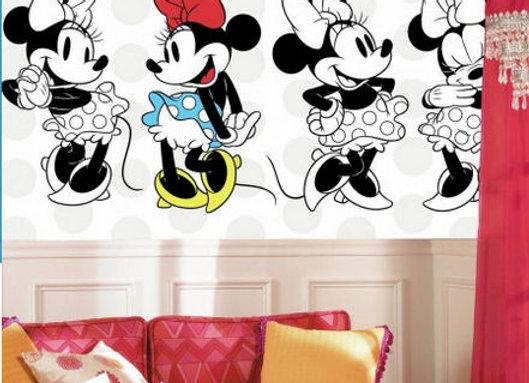 Minnie Rocks the Dots Surestrip Wall Mural 10.5' x 6