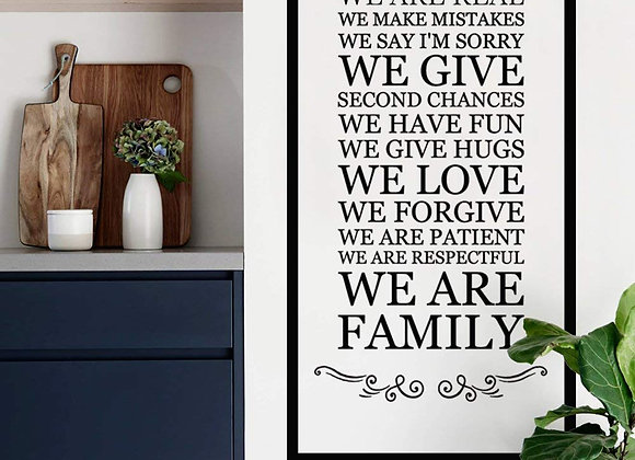 In This House Wall Decal Family Saying
