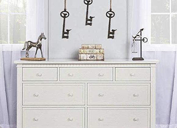 Cheyenne and Santa Fe Double Dresser in Brush White