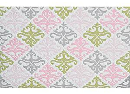 Pink Damask Kids Area Rug