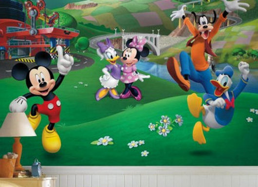 Mickey and Friends Roadster Racer Surestrip Wall Mural 10.5' x 6
