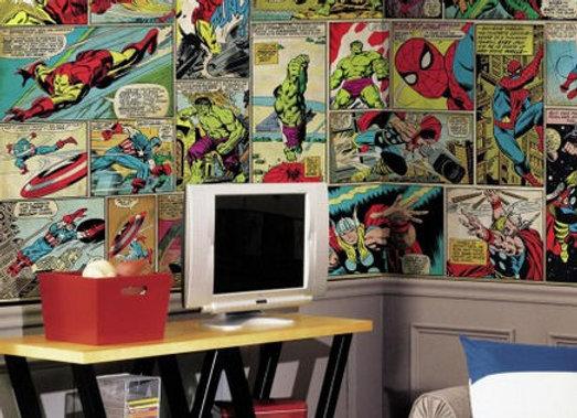 Classic Comic XL Surestrip Wall Mural 10.5' x 6'
