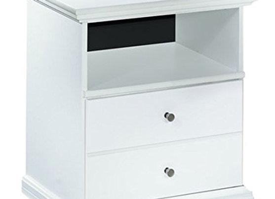 Bostwick Shoals Cottage White 1 Drawer Nightstand