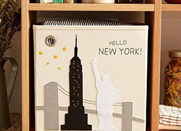 Hello New York Storage Canvas Cube