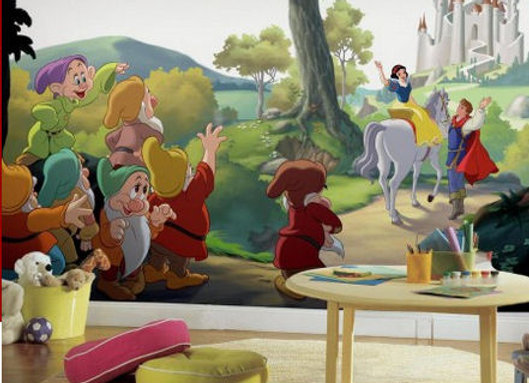 Snow White Happily Ever After Surestrip Wall Mural 10.5' x 6