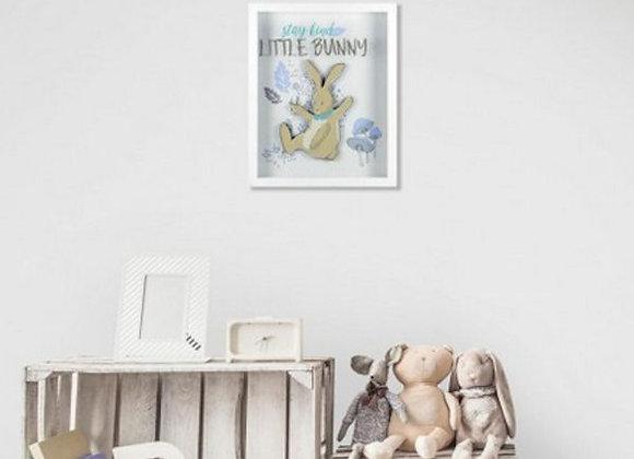 Roommates Patina Vie Stay Kind Little Bunny Shadowbox