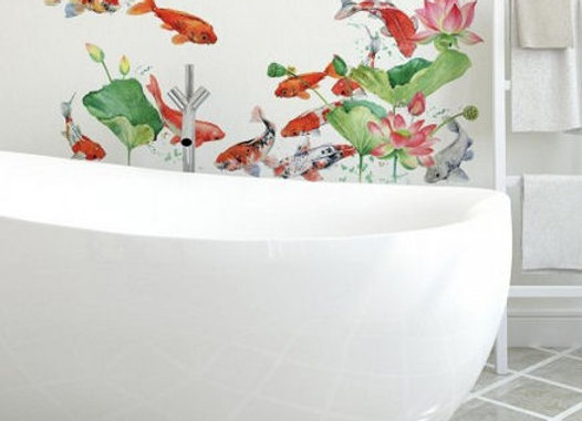 Roommates Koi Fish Peel and Stick Wall Decals