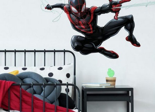 Roommates Spider-Man Miles Morales Peel and Stick Wall Decals