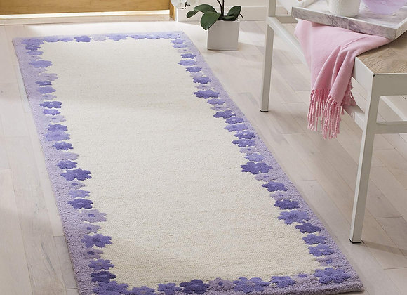 Safavieh Kids Ivory and Lavender Daisy Wool Area Rug