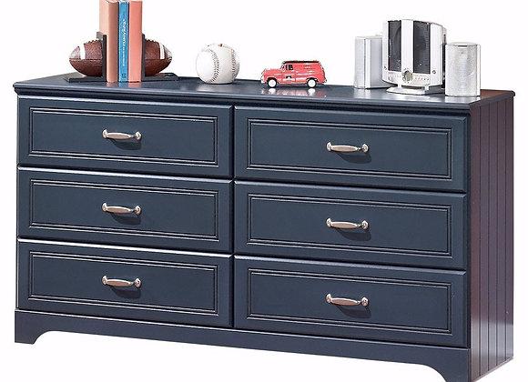 Leo Navy Blue 6 Drawer Dresser