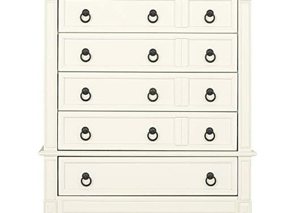 Adele Tall Chest Dresser in Creme Brulee