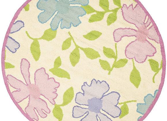 Safavieh Kids Pink Flowers Wool Area Rug