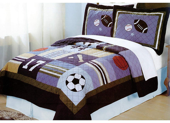 All State Sports Quilt and Sham Set