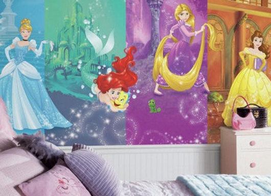 Disney Princess Scenes XL Surestrip Wall Mural 10.5' x 6'