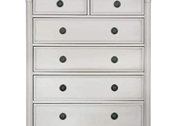 Julienne 6 Drawer Chest Dresser in Dove Gray