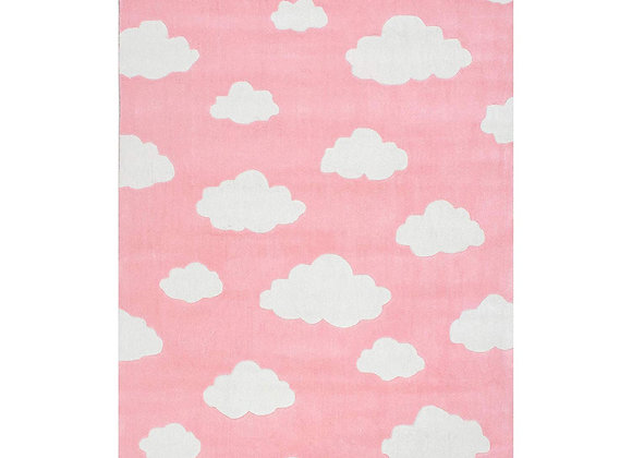 Blue or Pink Clouds Hand Tufted Kids Area Rug