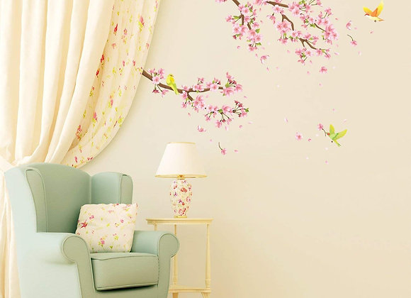 Cherry Blossom and Birds Wall Decals