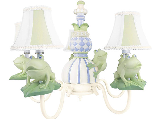 4 Light Frogs on Lilypads Chandeliers