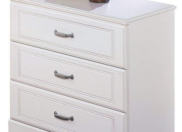 3 Drawer White Loft Chest Dresser