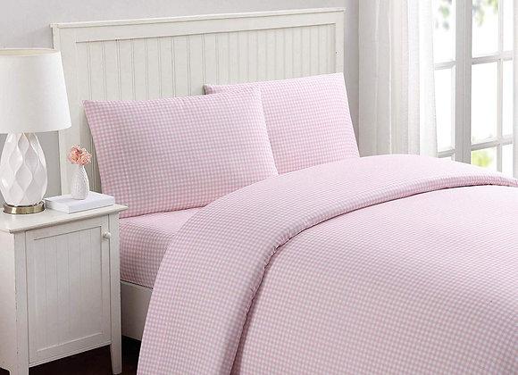 Light Pink Gingham Sheet Set