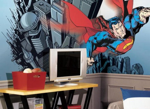 Superman XL Surestrip Wall Mural 10.5' x 6'