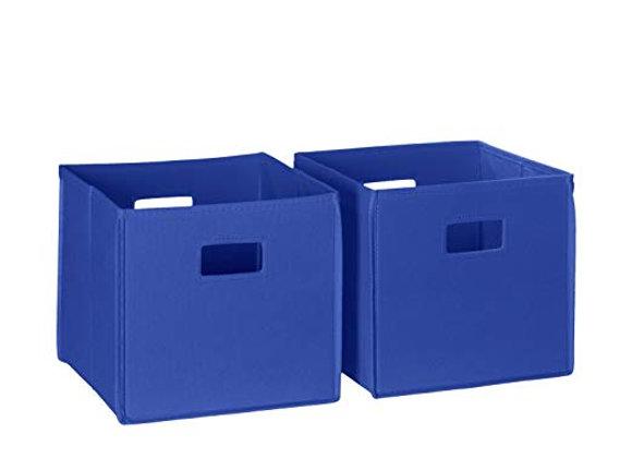 "Set of 2 10.5"" Toy Storage Bins Multiple Colors"