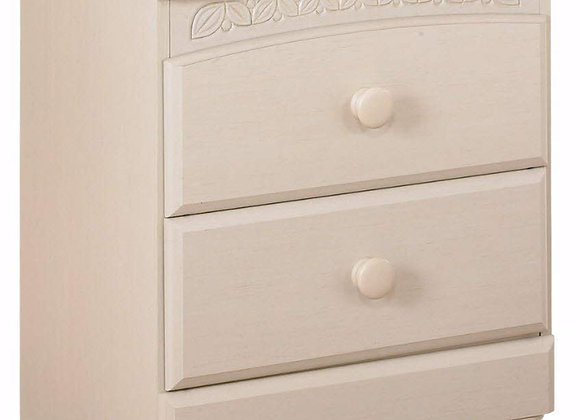 Cottage Style 2 Drawer Nightstand in Cream