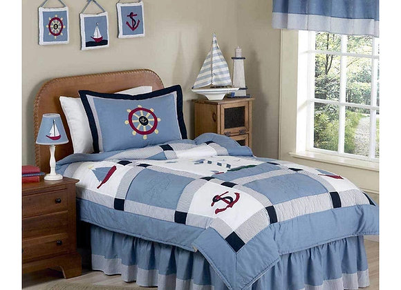 Sweet JoJo Designs Sail Away Nautical Bedding Set