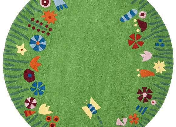 Safavieh Kids Green and Multi Floral Wool Area Rug