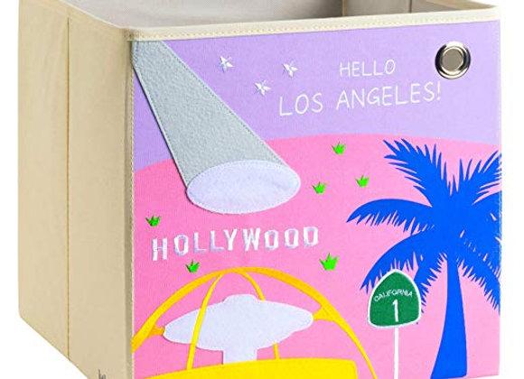 Hello Los Angeles Hollywood Storage Canvas Cube