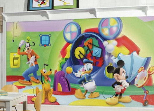 Mickey Mouse Clubhouse Capers XL Surestrip Wall Mural 10.5' x 6'
