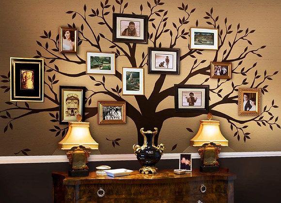 Chestnut Brown Family Tree Wall Decal