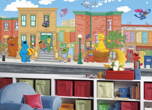 Sesame Street XL Surestrip Wall Mural 10.5' x 6'