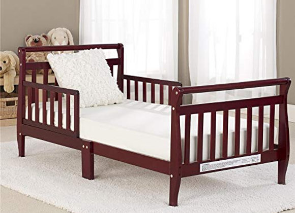 Cherry Finish Sleigh Todder Bed