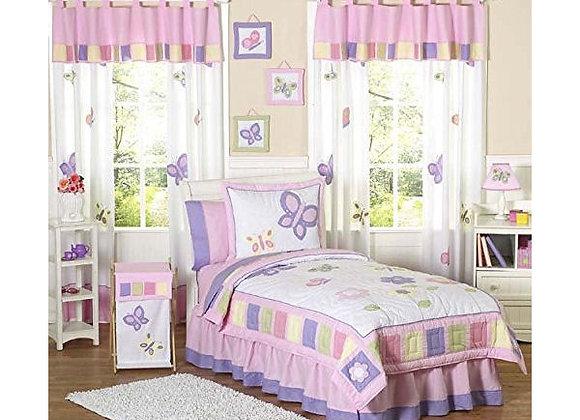 Sweet JoJo Designs Pink and Purple Butterfly Bedding Set
