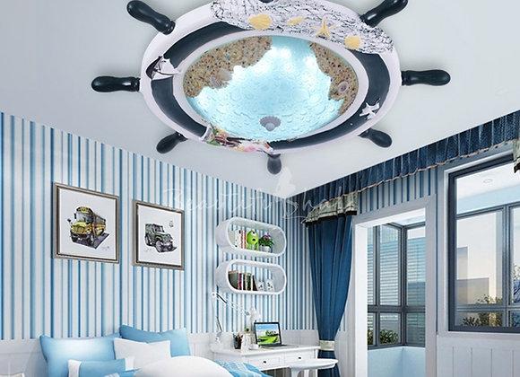 Ships Wheel LED Flush Mount Ceiling Light
