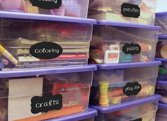 Set of 40 Storage Chalkboard Labels