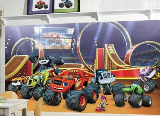 Blaze and the Monster Machine XL Surestrip Wall Mural 10.5' x 6'