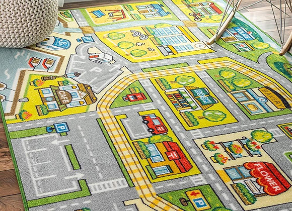 Fairytale Town City Area Rug